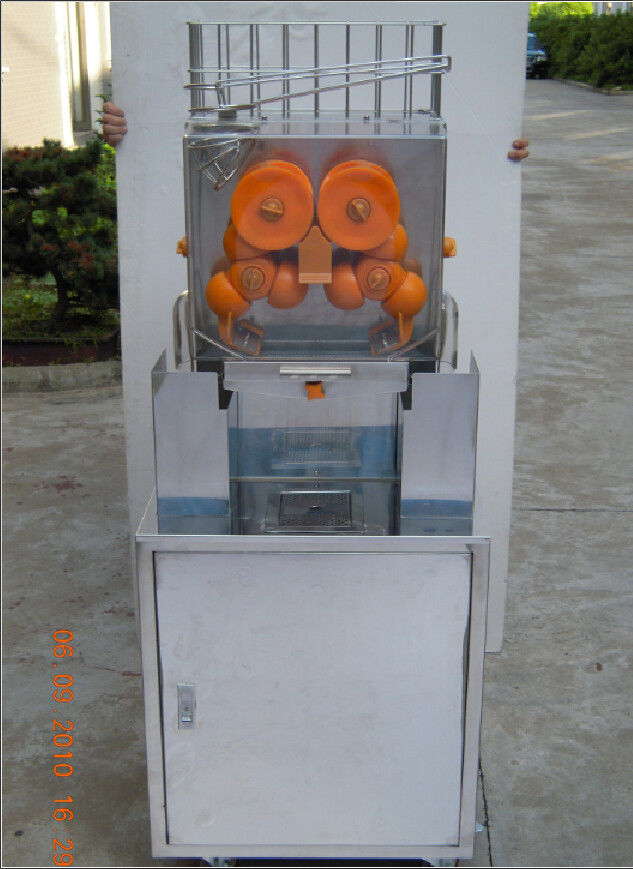 250 W High Electric Citrus Juicer , Supermarket Lemon Extractor Machine With Cabinet