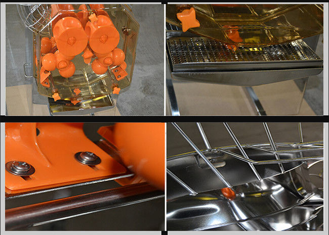 Stainless Steel Orange Juicer Machine High Efficiency 110V / 220V